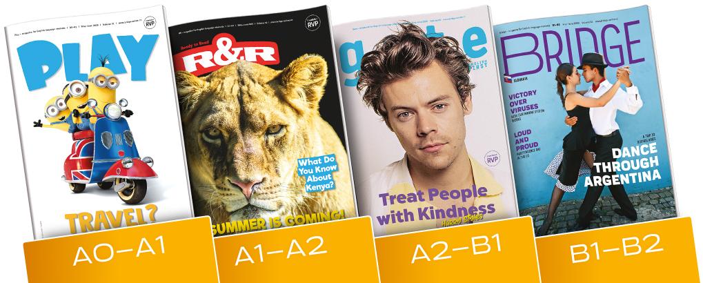 Májové časopisy Bridge, Gate, RR a Play